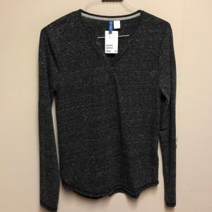 H&M long sleeve grey Henley BRAND NEW WITH TAGS!